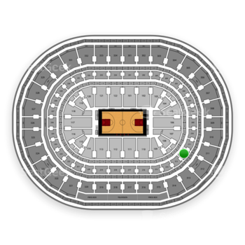 Chicago Bulls at United Center Section 212 View
