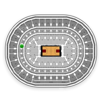 Chicago Bulls at United Center Section 227 View