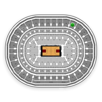 Chicago Bulls at United Center Section 304 View