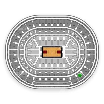 Chicago Bulls at United Center Section 313 View