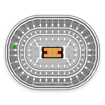 Chicago Bulls at United Center Section 327 View