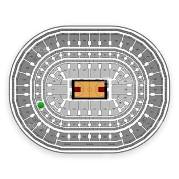 Chicago Bulls at United Center Section 224 View