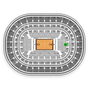 Chicago Bulls at United Center Section 106 View