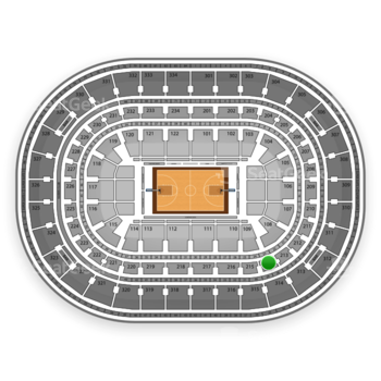 Chicago Bulls at United Center Section 214 View