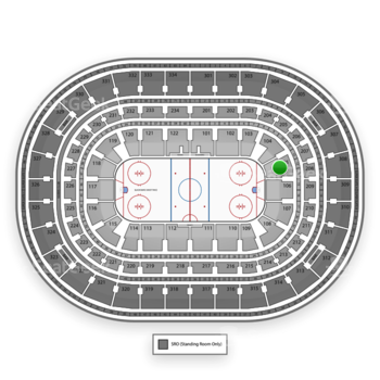 Chicago Blackhawks at United Center Section 105 View