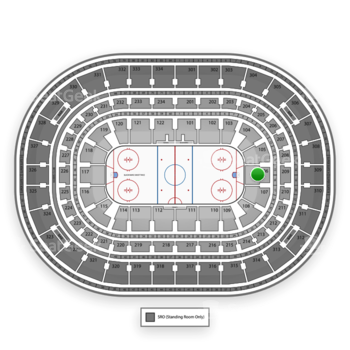 Chicago Blackhawks at United Center Section 106 View