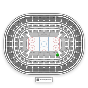 Chicago Blackhawks at United Center Section 109 View