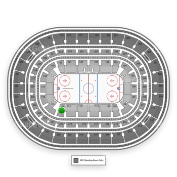 Chicago Blackhawks at United Center Section 114 View