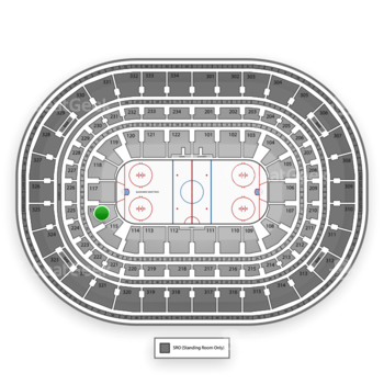 Chicago Blackhawks at United Center Section 116 View