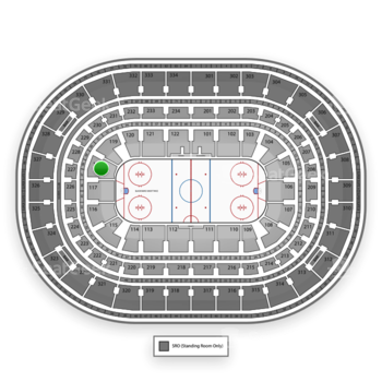 Chicago Blackhawks at United Center Section 118 View
