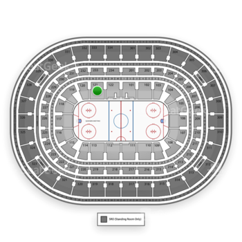 Chicago Blackhawks at United Center Section 121 View