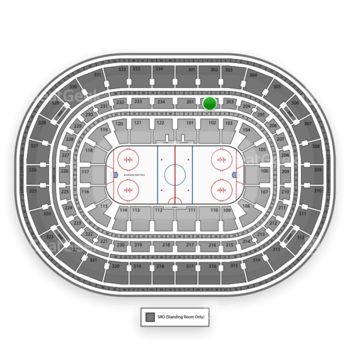 Chicago Blackhawks at United Center Section 202 View
