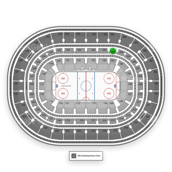 Chicago Blackhawks at United Center Section 203 View
