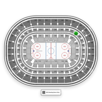 Chicago Blackhawks at United Center Section 205 View