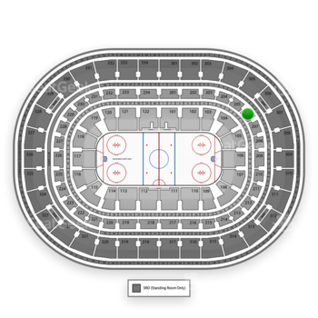 Chicago Blackhawks at United Center Section 206 View