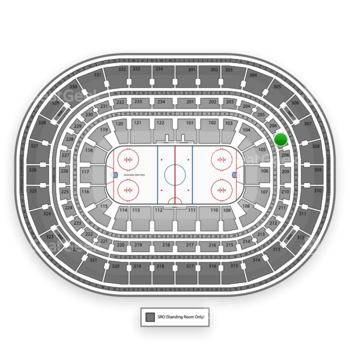 Chicago Blackhawks at United Center Section 207 View