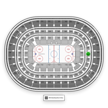 Chicago Blackhawks at United Center Section 209 View