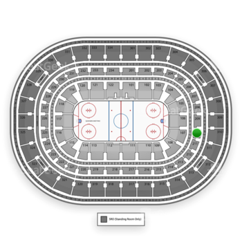 Chicago Blackhawks at United Center Section 210 View