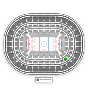 Chicago Blackhawks at United Center Section 213 View