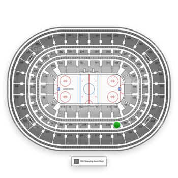 Chicago Blackhawks at United Center Section 215 View