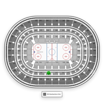 Chicago Blackhawks at United Center Section 218 View