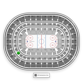 Chicago Blackhawks at United Center Section 223 View