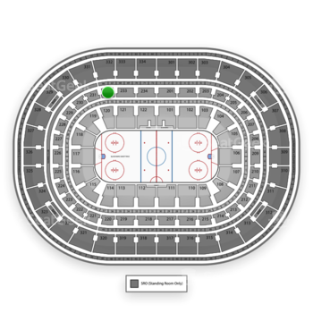 Chicago Blackhawks at United Center Section 232 View