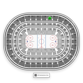 Chicago Blackhawks at United Center Section 302 View