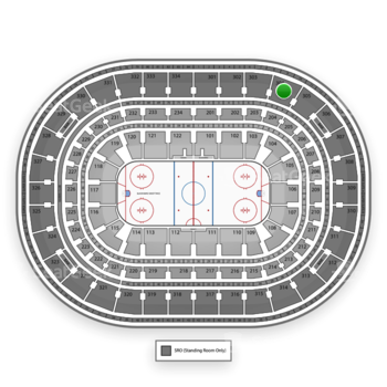 Chicago Blackhawks at United Center Section 304 View