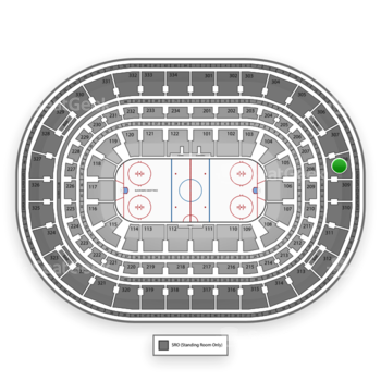 Chicago Blackhawks at United Center Section 308 View