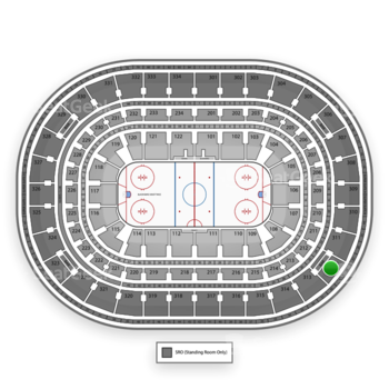 Chicago Blackhawks at United Center Section 312 View