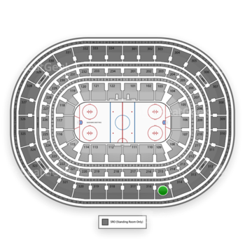 Chicago Blackhawks at United Center Section 315 View