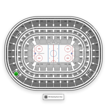 Chicago Blackhawks at United Center Section 323 View