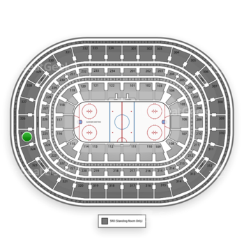Chicago Blackhawks at United Center Section 325 View