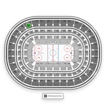 Chicago Blackhawks at United Center Section 331 View