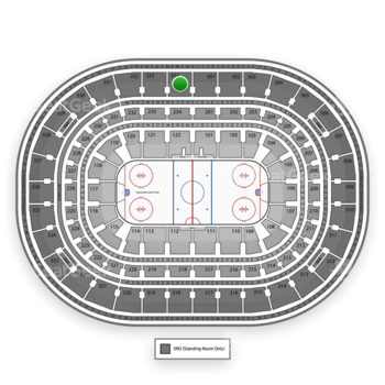Chicago Blackhawks at United Center Section 334 View