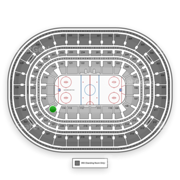 NHL at United Center Section 115 View
