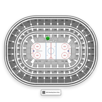 NHL at United Center Section 122 View