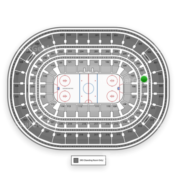 NHL at United Center Section 208 View