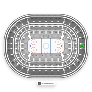 NHL at United Center Section 309 View