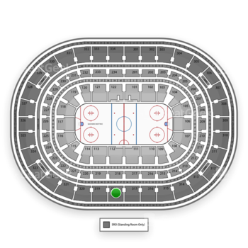 NHL at United Center Section 318 View