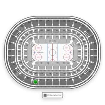 NHL at United Center Section 320 View