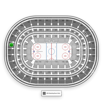 NHL at United Center Section 327 View