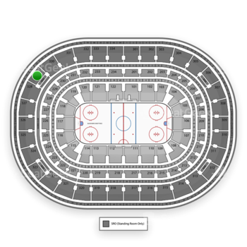 NHL at United Center Section 329 View