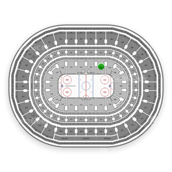 Chicago Blackhawks at United Center Section 102 View