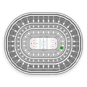 Chicago Blackhawks at United Center Section 107 View