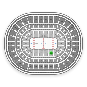 Chicago Blackhawks at United Center Section 110 View