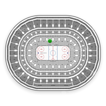 Chicago Blackhawks at United Center Section 122 View