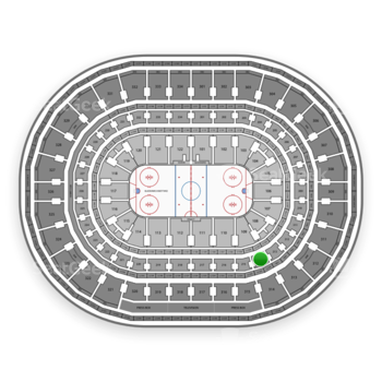 Chicago Blackhawks at United Center Section 214 View