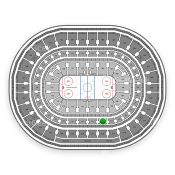 Chicago Blackhawks at United Center Section 216 View